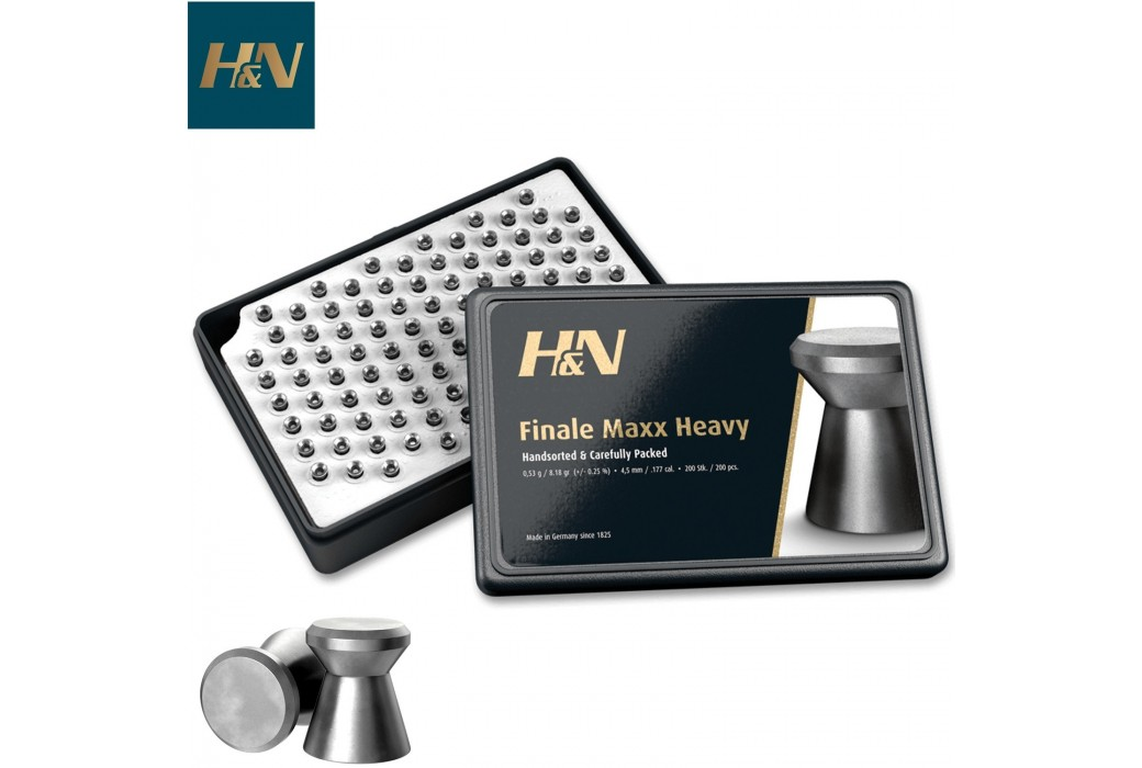 MUNITIONS H & N FINALE MAXX HEAVY 4.50mm (.177) 200PCS