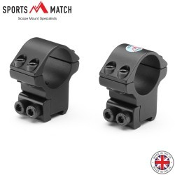"SPORTSMATCH TO4C MONTURAS 2PC 1"" 9-11mm MEDIA"