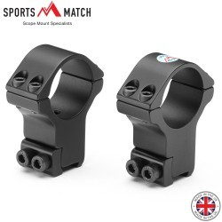 SPORTSMATCH HTO71 MONTURAS 2PC 30mm 9-11mm EXTRA ALTA