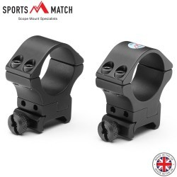 SPORTSMATCH ATP72 WEAVER TWO PIECE MOUNTS 30mm WEAVER ADJUSTABLE ELEVATION