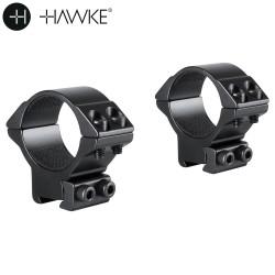HAWKE MONTAGE 2PCS 30mm 9-11mm MOYEN