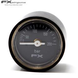 FX MANÓMETRO PRESSÃO 28mm 1/8 IMPACT MKII 0-200BAR