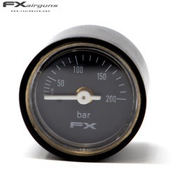 FX PRESSURE GAUGE 28mm 1/8 IMPACT MKII 0-200BAR