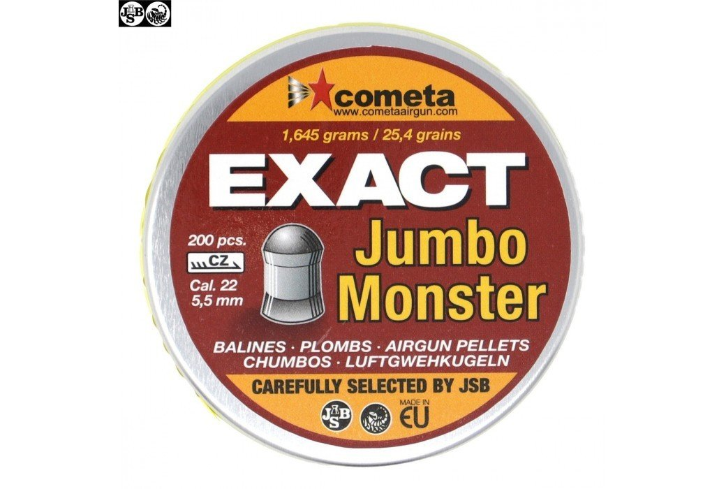 MUNITIONS JSB EXACT MONSTER JUMBO 200pcs 5.52mm (.22)
