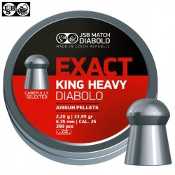 MUNITIONS JSB EXACT KING HEAVY ORIGINAL 300pcs 6.35mm (.25)