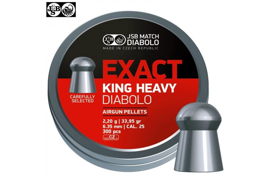 BALINES JSB EXACT KING HEAVY ORIGINAL 300pcs 6.35mm (.25)