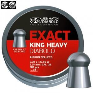 MUNITIONS JSB EXACT KING HEAVY ORIGINAL 300pcs 6.35mm (.25)