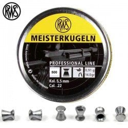 MUNITIONS RWS MEISTERKUGELN 5.50mm (.22) 500pcs