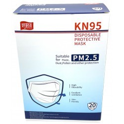 PACK 20 MASQUES JETABLES KN95 FFP2 HAUTE FILTRATION BLANC