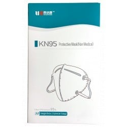 PACK 50 DISPOSABLE MASKS KN95 FFP2 HIGH FILTRATION WHITE