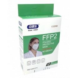 PACK 10 DISPOSABLE MASKS FFP2 HIGH FILTRATION WHITE