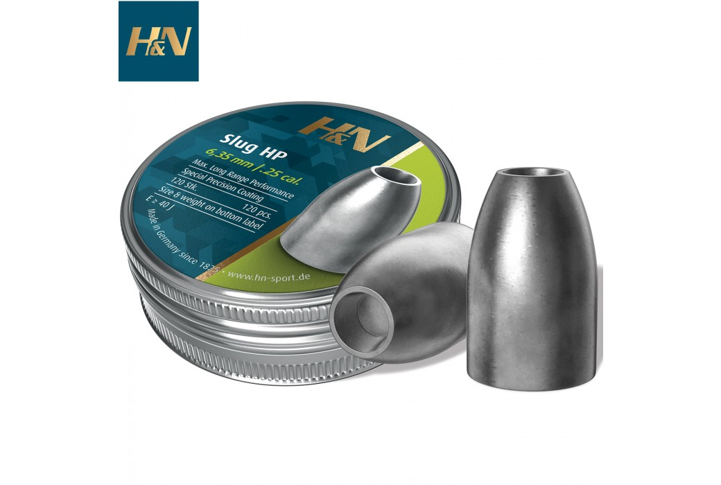 CHUMBO H&N SLUG HP 6.35mm (.250) 28gr 120PCS