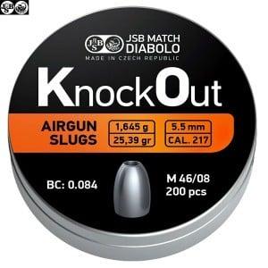 CHUMBO JSB KNOCK OUT SLUGS 5.50mm (.217) 25.39gr 200PCS