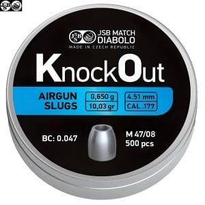 MUNITIONS JSB KNOCK OUT SLUGS 4.51mm (.177) 10.03gr 500PCS