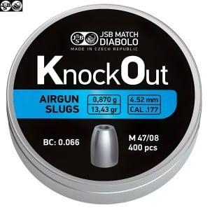 CHUMBO JSB KNOCK OUT SLUGS 4.52mm (.177) 13.43gr 400PCS