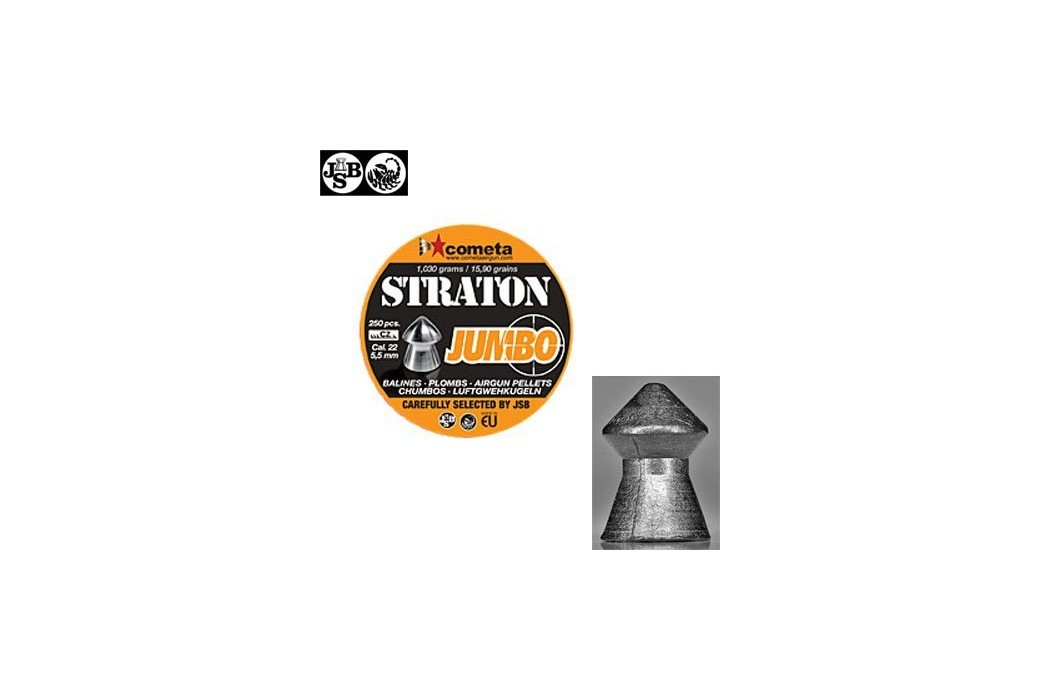 JSB STRATON JUMBO 250pcs 5.5mm (.22)