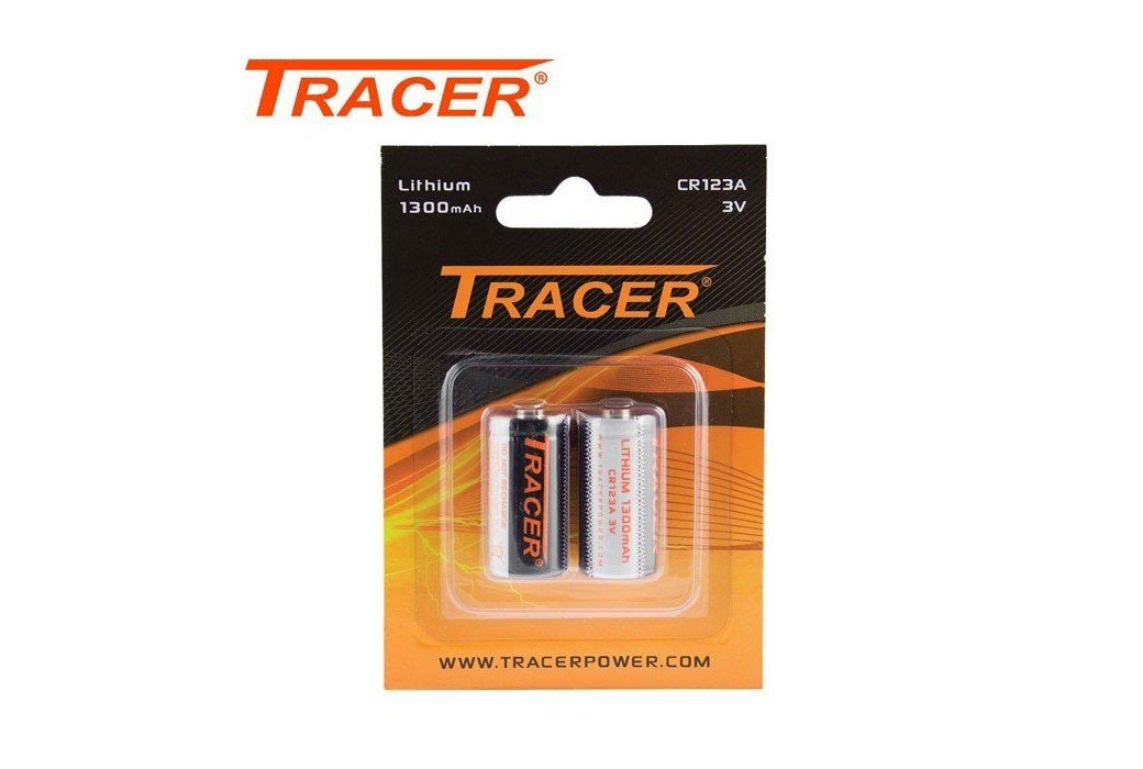TRACER CR123A BATTERIES 2PCS