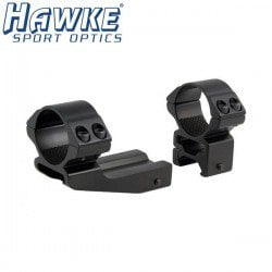 "HAWKE WEAVER TWO-PIECE MOUNT 30mm REACHFORWARD 2"" HIGH"
