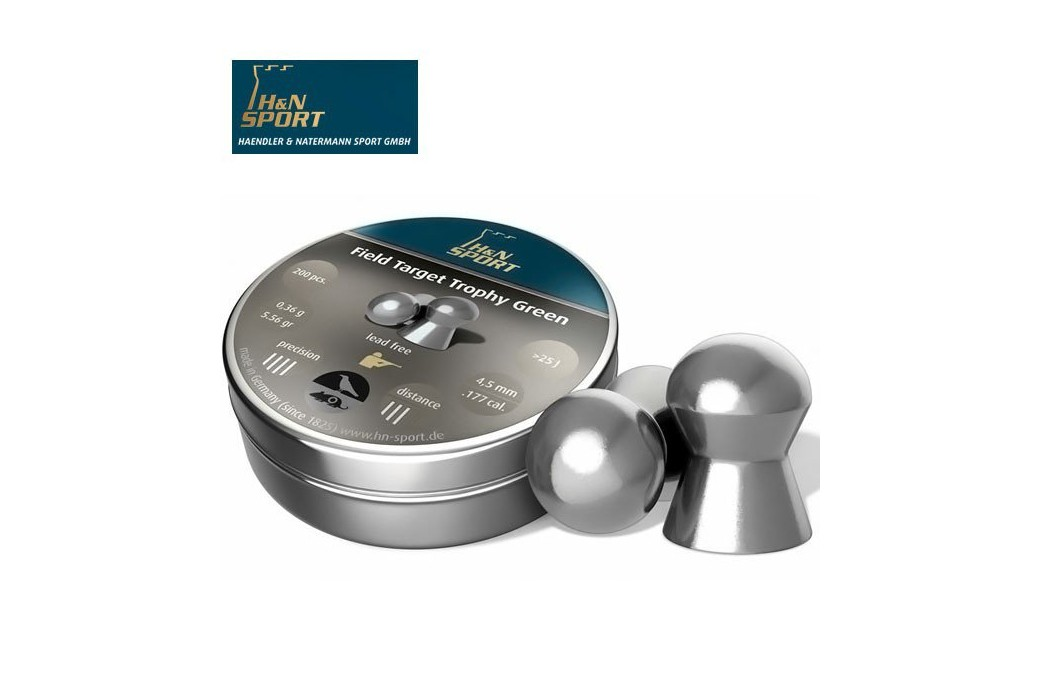 H&N FIELD TARGET TROPHY GREEN 4.50mm (.177) 200PCS