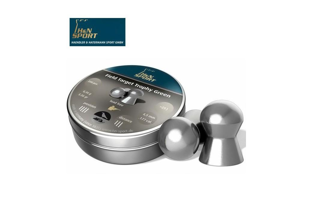 H&N FIELD TARGET TROPHY GREEN 5.50mm (.22) 200PCS