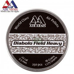 MUNITIONS AIR ARMS DIABOLO FIELD HEAVY 250pcs 5.52mm (.22)