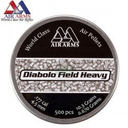 CHUMBO AIR ARMS DIABOLO FIELD HEAVY 500pcs 4.52mm (.177)