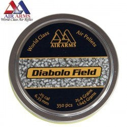 Air gun pellets AIR ARMS DIABOLO FIELD 350pcs 6.35mm (.25)