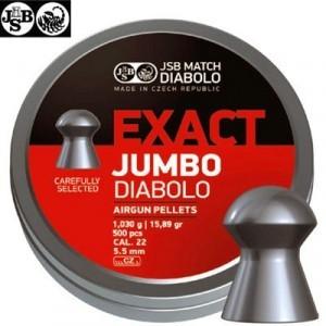 MUNITIONS JSB EXACT JUMBO ORIGINAL 500pcs 5.52mm (.22)
