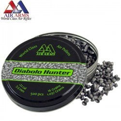 MUNITIONS AIR ARMS DIABOLO HUNTER 500pcs 5.50mm (.22)