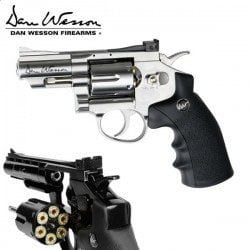 "REVOLVER ASG DAN WESSON 2.5"" NICKEL"