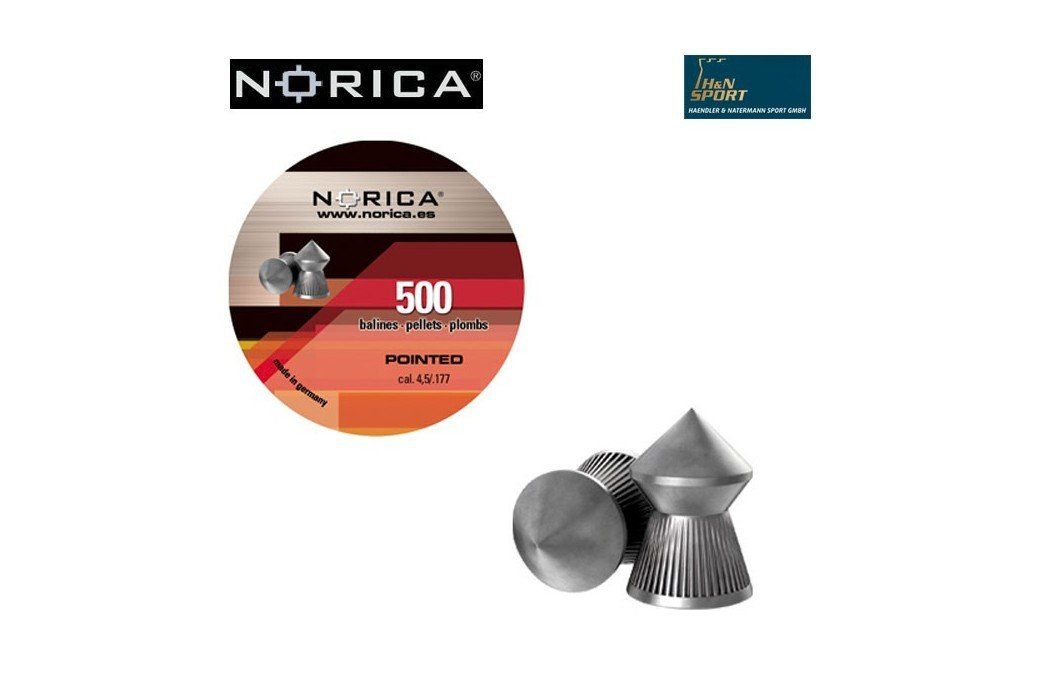 NORICA POINTED 4.50mm (.177) 500PCS