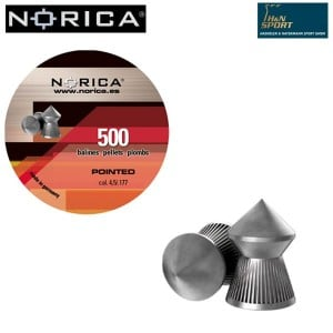 MUNITIONS NORICA POINTED 4.50mm (.177) 500PCS