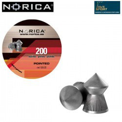 BALINES NORICA POINTED 5.50mm (.22) 200PCS