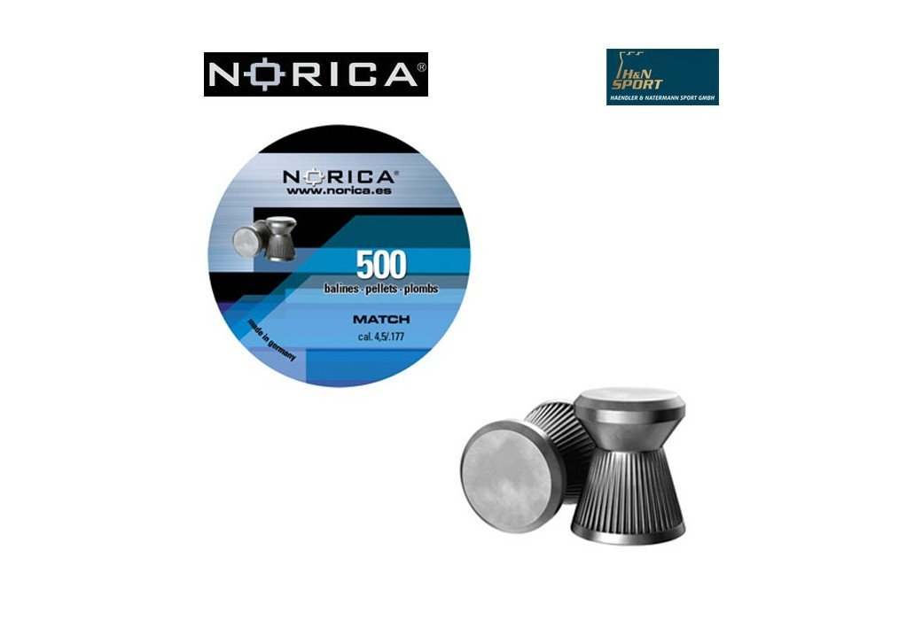 NORICA MATCH 4.50mm (.177) 500PCS