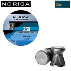 BALINES NORICA MATCH 5.50mm (.22) 250PCS