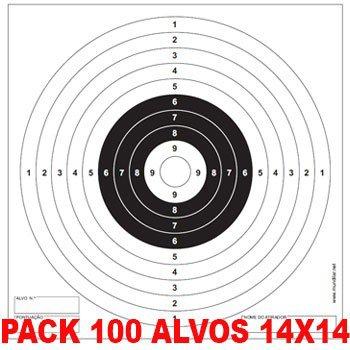 PACK 100 ALVOS 14X14