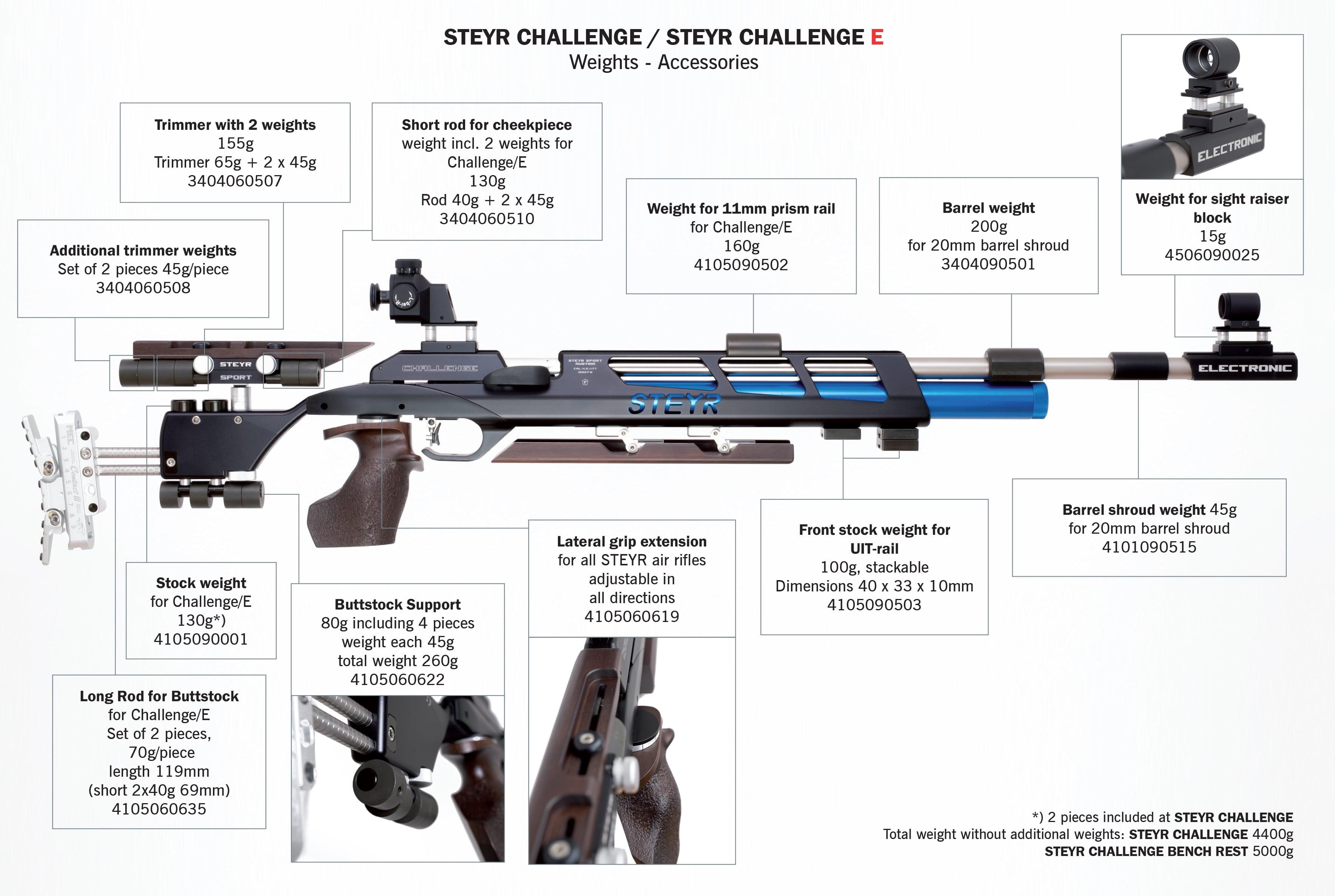 AIR RIFLE STEYR CHALLENGE E|PCP Air Rifles|Mundilar-PCP Air