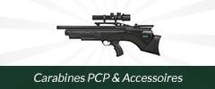 Carabines PCP et accessoires
